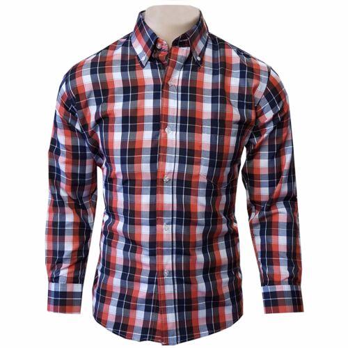 Latest Fashion Mens Casual Cotton Summer Shirts Check Office Shirts All Seasons