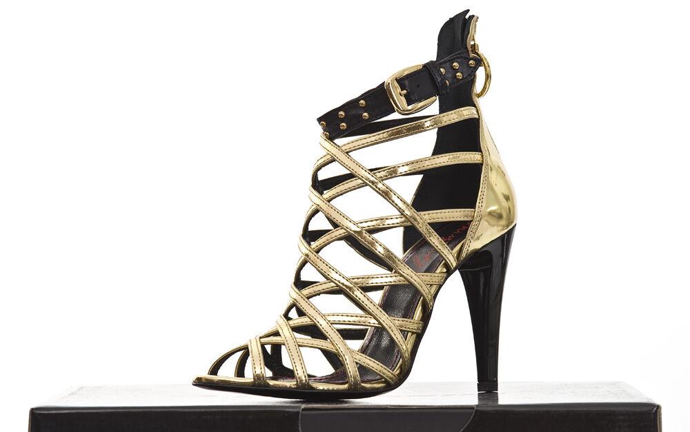 PINKO pelle sandalo da donna con nastro loop ** PITONE Miller SANDALO PELLE ST. PITONE ** 0a00b7