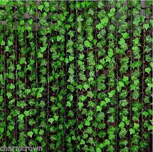 Beautiful-Manmade-Ivy-Leaf-Garland-Plants-Vine-Foliage-Flowers-Home-Decor