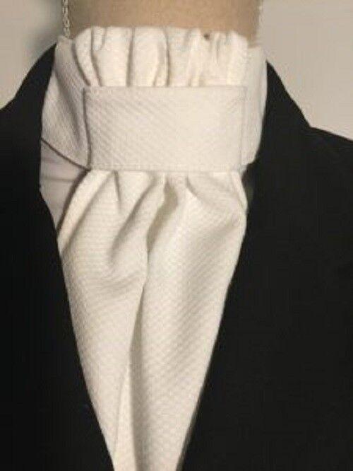Equi-Logic Cotton Pique, ruffled stock tie