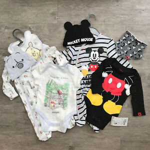 e2d695d34 Baby Boy 0-9 Months Mickey Mouse   101   Dumbo 4 Piece Set Babygrow ...