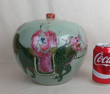 ancien vase potiche pot en porcelaine de chine / antique chinese cover jar 1900