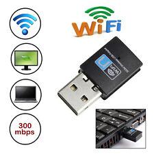 300Mbps Mini Wireless USB Wi-fi Wlan Adapter 802.11 b/g/n Network LAN Dongle
