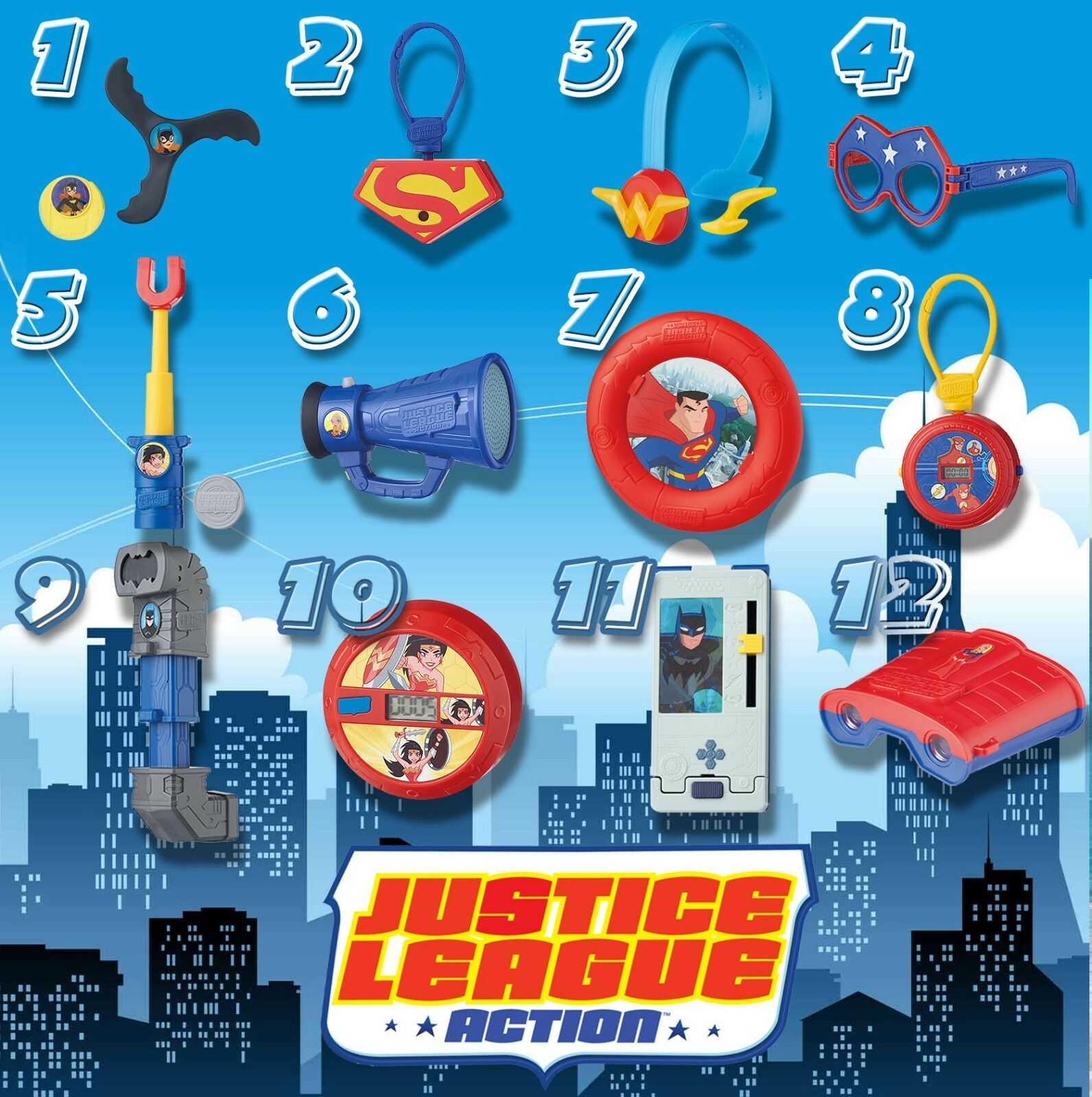 McDonald's Russia Toy Happy Meal 2018 Justice League Action set of 12