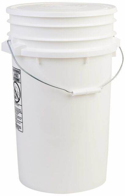 Hudson Exchange Premium 7 Gallon Bucket With Lid HDPE White Free2dayship