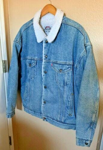 Vintage Levis Denim Sherpa Lined Trucker Jacket XL