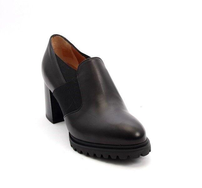 Mot-CLe 7100 Negro Cuero Elástico Zapatos Taco De De De Confort 37 US 7  diseño único