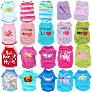 Summer-Various-Puppy-Pet-Dog-Cat-T-Shirt-Vest-Shirt-Small-Dog-Clothes-Costume
