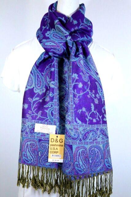 DG Pashmina Scarf Shawl Wrap,Scarves Paisley Silk Cashmere-Soft*Women/'s