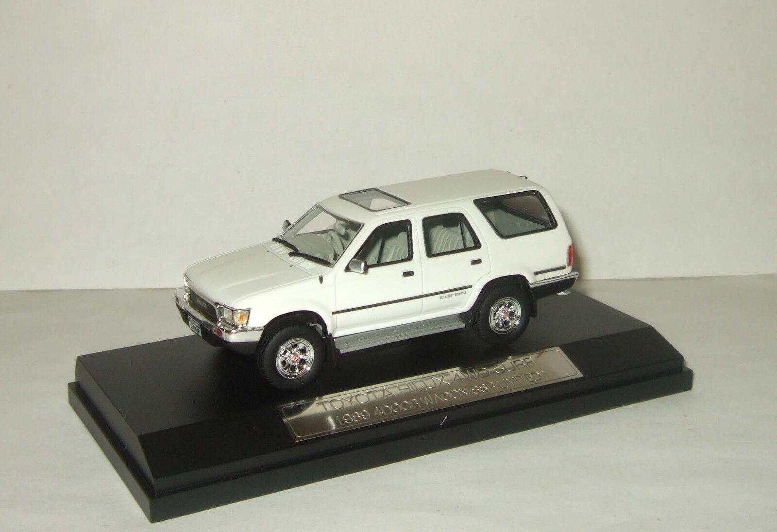 1 43 Hi Story Toyota Hilux Surf 4x4 SSR-LTD 1989 Blanc HS041WH