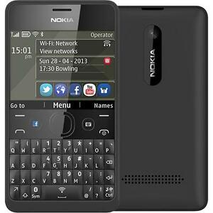 Details about Brand New Nokia Asha 210 Black ( Wifi ) All Networks WhatsApp  Facebook QWERTY