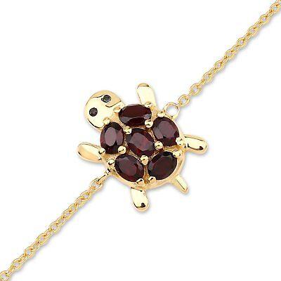 2019 New Style Fußkette Glücksbringer-schildkröte/turtle-schwarzer Spinell/granat-silber/gold Buy One Get One Free Fine Anklets Jewelry & Watches