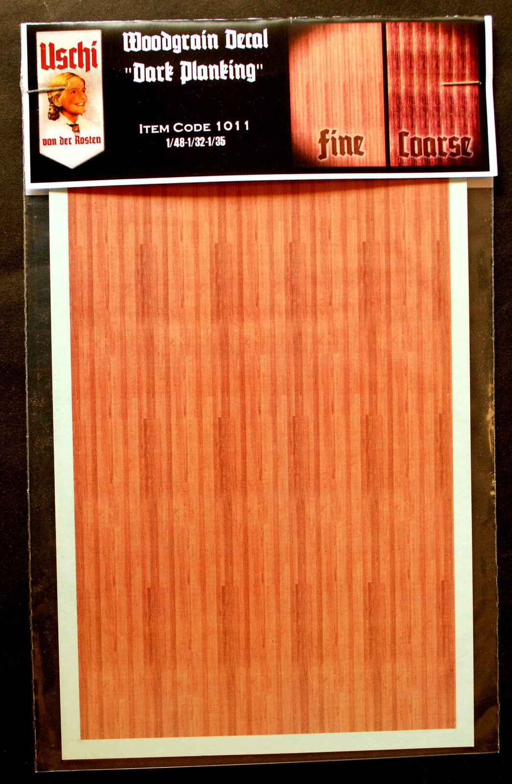 Uschi van der Rosten 1011 Decals Holzdekor Woodgrain Dark Planking