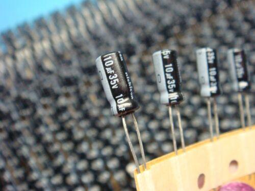 uvr1v100mda 10uf 35v 20/% 85 ° C Radial condensador electrolítico de aluminio 50