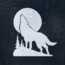 White Wolf In A Moon Light Car Decal Vinyl Sticker