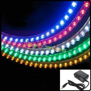48cm led neon aquarium fish tank waterproof light powe r l adapter smd ebay