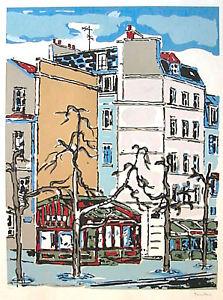 Orfeo Tamburi, serigrafia cm.70 x 90, firmata e certificata, del 1978. Parigi.