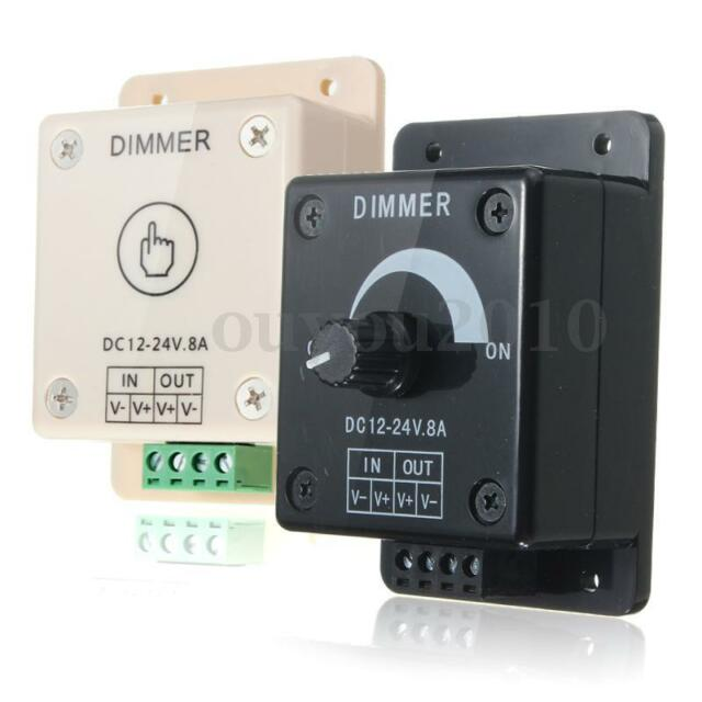 Dimmable LED Light Dimmer Lamp Bulb Switch Adjustable/Touch Control DC 12V-24V