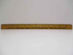 Vintage-Wood-Senco-Coca-Cola-Coke-Wooden-Advertising-Ruler-034-The-Golden-Rule-034
