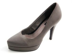 online store f195b 976ff Details about Tiger of Sweden plateau pumps, gray leather, women shoe size  US 5.5 EU 36 $420