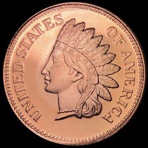 Indian Head Cent Penny Design Copper 1 2 Oz Round Coin 999 Fine Bullion Ebay