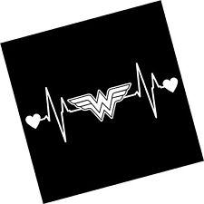 13e4410965d053 item 2 Wonder Woman Heartbeat Vinyl Decal Sticker