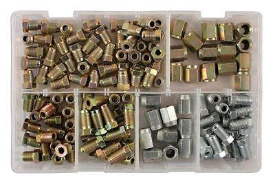 Brake Pipe Nut Fittings Set Box 135 Pcs Male Female Short Full Thread MM /& UNF