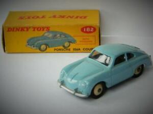 DINKY-TOYS-MECCANO-V-NEAR-MINT-BOXED-PORSCHE-356A-COUPE-PALE-BLUE-No-182-1958-66