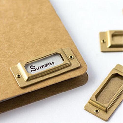 Nouveauté laiton signet pour la Papeterie Cadeau Nom du fichier CARTE Label Index Card Tag