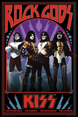 MUSIC 241363 KISS ROCK GODS POSTER 24x36