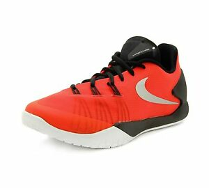 meet 5965e 5dc77 Image is loading Nike-Hyperchase-Bright-Crimson-Metallic-Silver-Basketball -Shoes-