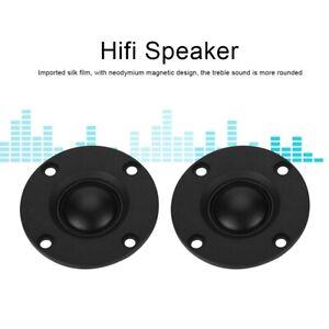 Paire-de-Tweeter-Haut-parleur-d-039-aigu-Dome-en-soie-Hi-Fi-30W-6-Audio-Audiophile