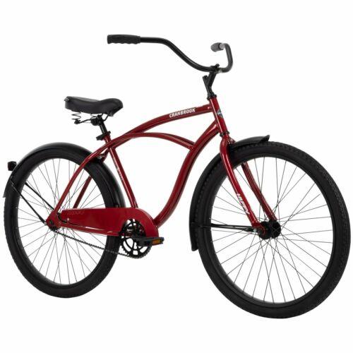 "Huffy 26/"" Cranbrook Men/'s Beach Cruiser Bike Red Metallic"