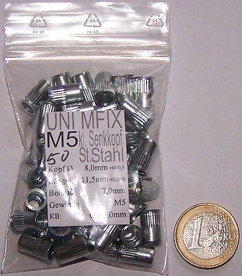 300 x Stahl Blindnietmutter M3 M10 Nietmutter Gewindeniete Nietmuttern Gewinde
