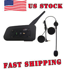 US STOCK 1200M BT Bluetooth Motorcycle Helmet Intercom Headsets for Smart Phone