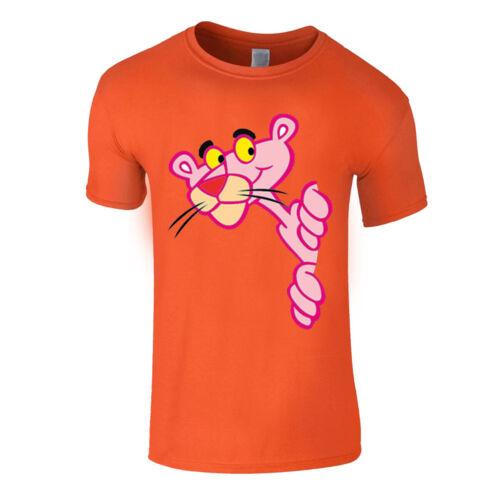Pink Panther Cartoon Caricature Mens Printed T Shirt Birthday Summer Crew Neck