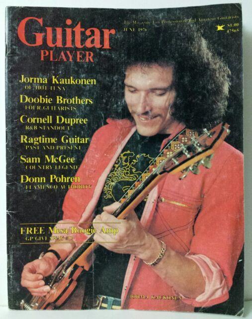Guitar Player Magazine Back Issue June 1976 Jorma Kaukonen Cover Doobie Brothers