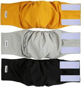 3 Pack Washable Male Dog Diapers Soft & Comfortable No Worry Leakage Medium