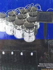 10 Mason Jar Party String solar Led Lights Indoor/Outdoor Decor