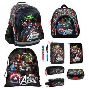 Avengers-Backpack-FILLED-Double-Pencil-Case-Shoe-Bag-Pouch-Wallet-Pen-Assemble