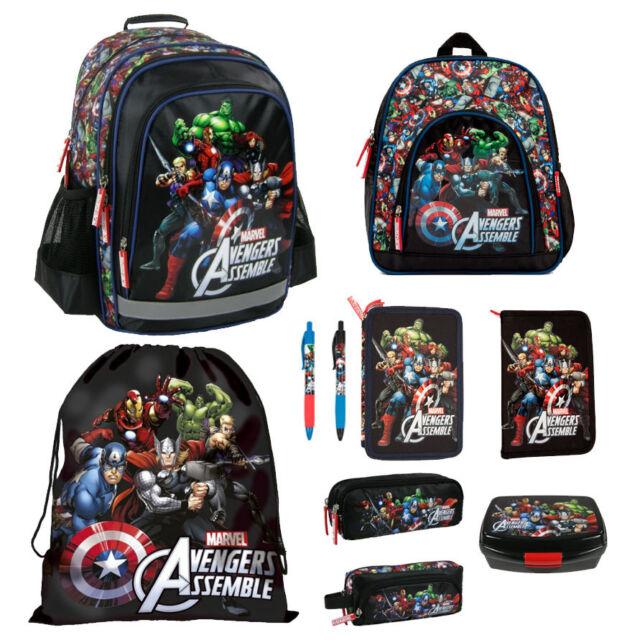 995caf93f6 Avengers Backpack FILLED Double Pencil Case Shoe Bag Pouch Wallet Pen  Assemble