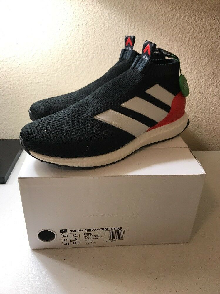 New Adidas Ace 16+ pure control ultra boost BY9087 PREDATOR BLACK Red Comfortable