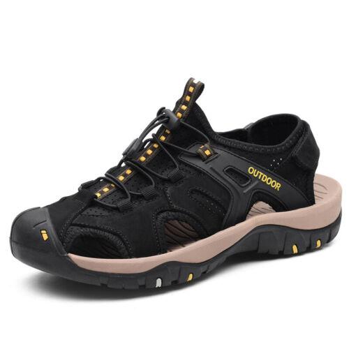 Roman Mens Beach Slingbacks Sandals Shoes Closed Toe Walking Flats Non-slip 46 L