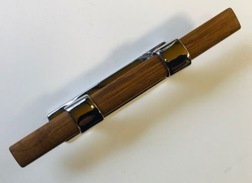 Holzsteg 220mm Belegklampe klassische Form Typ Stockpoller in Bronze verchromt