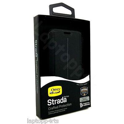 Genuine Otterbox Strada Leather Flip Case Cover For Samsung Galaxy S7 Edge Black
