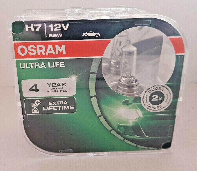 12V passenger car 2 units headlight bulb for halogen headlamps duobox xenon effect for white light OSRAM COOL BLUE INTENSE H7 64210CBI-HCB