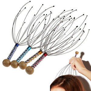 1Pc Scalp Massager Therapeutic Head Scratcher for Deep Relaxation Stress Tool