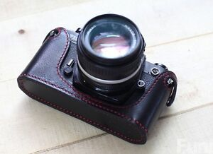 Handmade Genuine Real leather Camera Case Bag Cover Black for Nikon FM2 FE2 FM3a