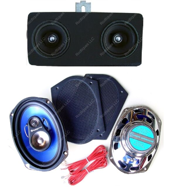 1967 Chevelle El Camino Dash Speakers /& Kick Panels For Stereo Radio  NO// AC