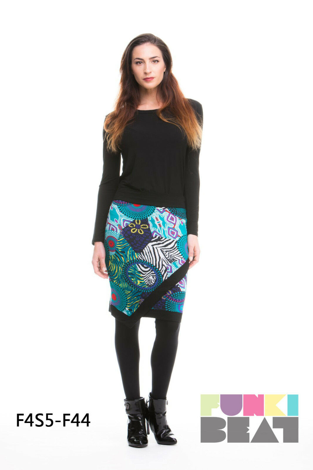 NEW LADIES FUNKIBEAT COLOURFUL SKIRT SIZES 10 & 16